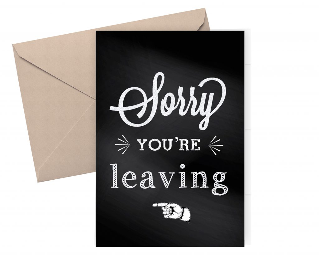 buy farewell card  goodbye card  sorry you're leaving